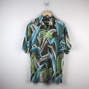 Tommy Bahama l Silk Foliage Hawaiian Tiki Shirt